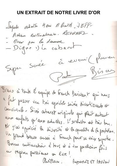 livre d or page 1